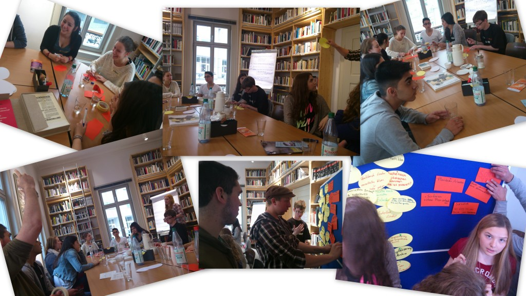 Workshop der Geschichts Ag bei Spiegelbild